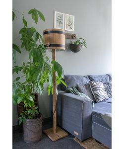 Houten vloerlamp 'Barrel'