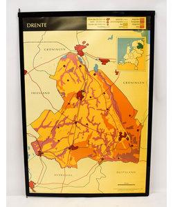Landkaart Drenthe - Overijssel