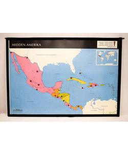 Landkaart midden-Amerika - Oost -Azië
