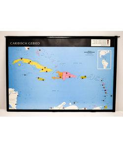 Landkaart Caribisch gebied - Zuid-Amerika