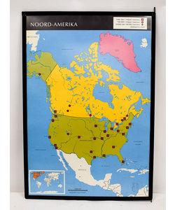 Landkaart Noord-Amerika - Baltische staten