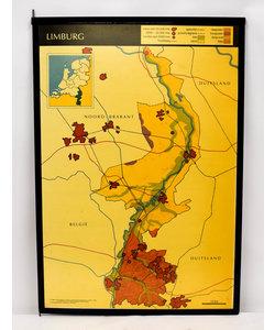 Landkaart Limburg - Zeeland