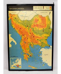 Landkaart België - Luxemburg - Balkan
