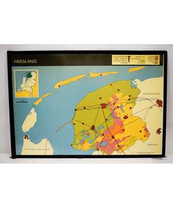 Landkaart Friesland - Groningen