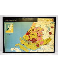 Landkaart zuid en noord Holland
