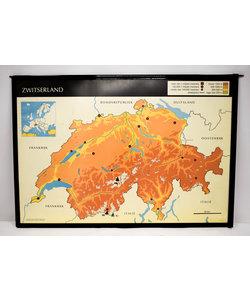 Landkaart Zwitserland - Denemarken
