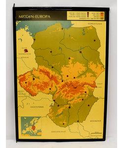 Landkaart midden-Europa - Spanje-Portugal