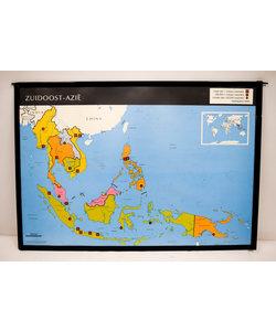 Landkaart zuid-oost Azië - Australië New Zeeland