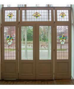 321,5 x 307 cm - Set glas in lood deuren No. 130