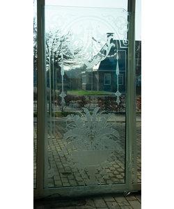 217,5 x 108,5 cm - Raam geëtst glas No. 1