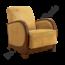 Oude fauteuil - geel