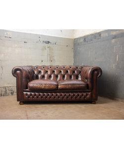 Vintage Chesterfieldbank 2-zits 1/2