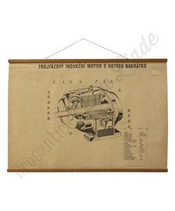 Motorische schoolplaat - Inductiemotor