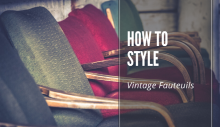 How to style: vintage fauteuils