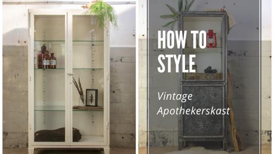How To Style Apothekerskast Brocantiek De Linde