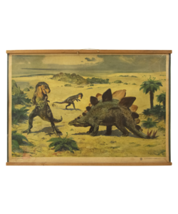 Zoölogische schoolplaat - Dinosauriërs