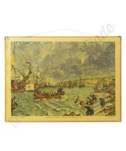 Historische schoolplaat - Landing prins Willem III