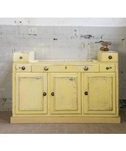 Vintage toonbank - Zacht geel