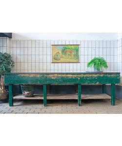 Oude werkbank - Groen XXL