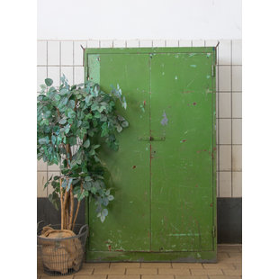 Industriële kast 'Green metal'