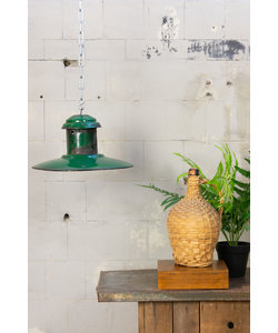 Vintage hanglamp 'UFO dark green'