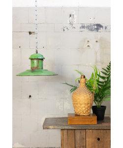Vintage hanglamp 'UFO light green'