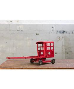 Vintage auto aanhanger - Rood