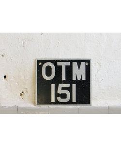 Bordje 'OTM151'
