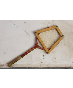 "Tennis racket - Houten frame ""No 1"""