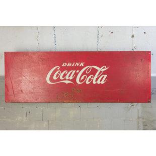 Vintage Coca Cola bord - Metaal
