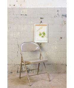 Vintage klapstoel - Grijs/bruin