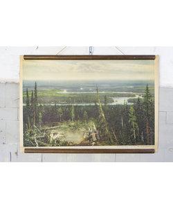 Schoolplaat landschap - Tajga Rusland