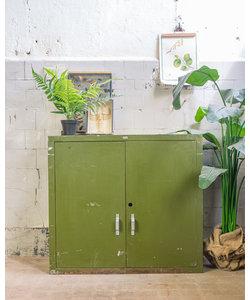 Industrieel wandkastje - Green metal