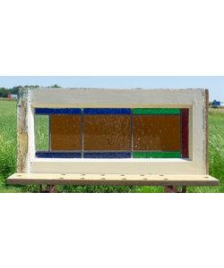 32,5 x 70,5 cm - Glas in lood raam No. 293