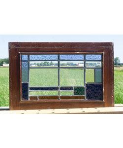 36,5 x 53 cm - Glas in lood raam No. 295