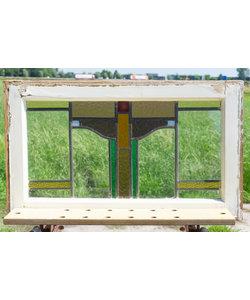 46 x 78 cm - Glas in lood raam No. 297