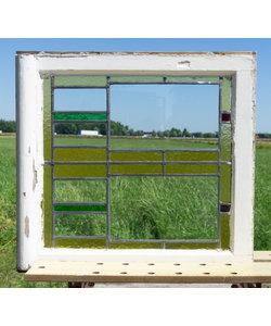 61 x 66 cm - Glas in lood raam No. 300