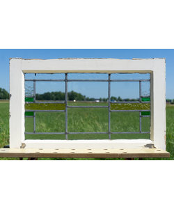 42,5 x 69 cm - Glas in lood raam No. 302