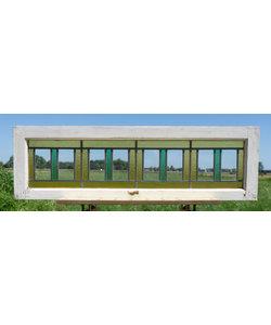 35 x 114 cm - Glas in lood raam No. 303
