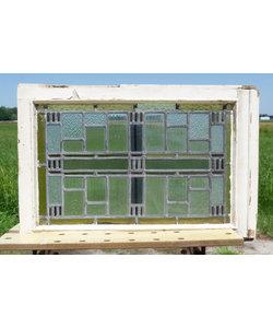 48 x 74 cm - Glas in lood raam No. 304