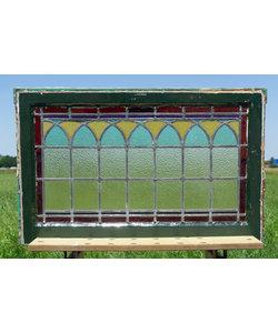 50 x 79,5 cm - Glas in lood raam No. 307