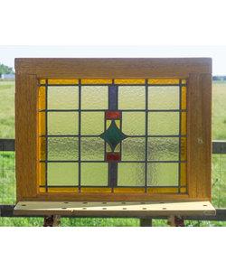 57,5 x 72 cm - Glas in lood raam No. 309