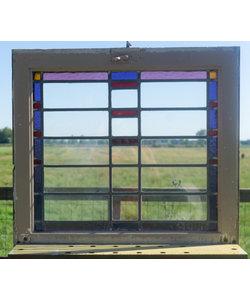 64 x 72 cm - Glas in lood raam No. 310