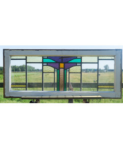 46 x 110 cm - Glas in lood raam No. 311