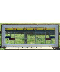 37,5 x 89,5 cm - Glas in lood raam No. 314