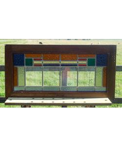 39,5 x 77,5 cm - Glas in lood raam No. 314