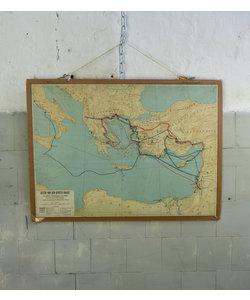 Oude landkaart - Reizen van den apostel Paulus