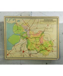 J.B Wolters landkaart - Overijssel