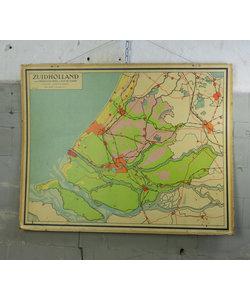J.B Wolters landkaart - Zuid-Holland