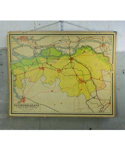 J.B. Wolters landkaart - Noord-Brabant